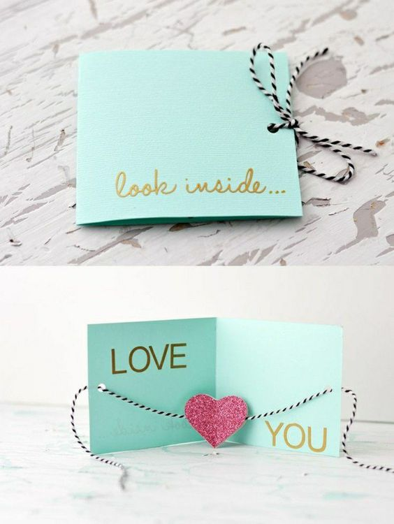 FETE EN KIT PINTEREST - CARTE ST VALENTIN I LOVE U