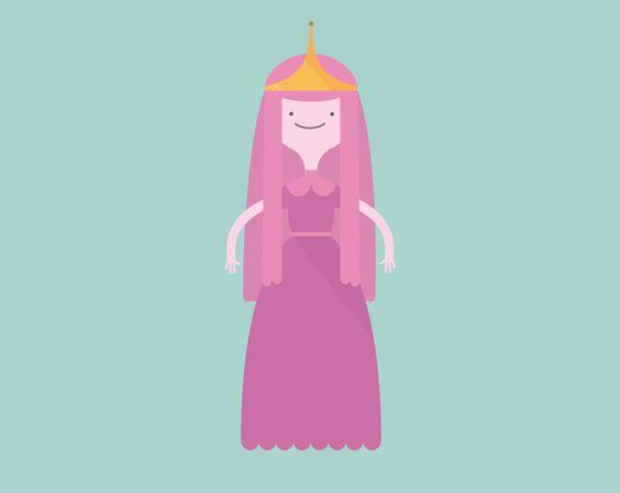 Vector illustrations - Adventure Time by Léa Taloc, via Behance