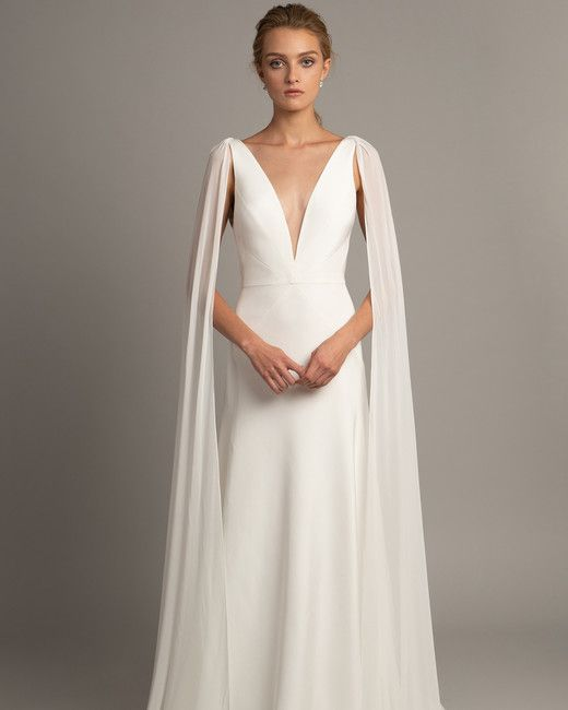 Wedding Dress Trends From Fall 2019 Bridal Fashion Week Wedding Dress Long Sleeve Cape Wedding Dress Wedding Dresses Satin