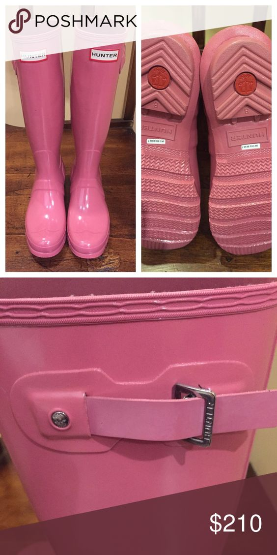 Hunter boots rhodonite pink Brand new Hunter rain boots - very hard to find rhonodite pink. UK 5/U.S 7 Hunter Boots Shoes Winter & Rain Boots