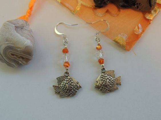 Tropical Fish Sealife Dangle Charm Earrings. by pnljewelrydesigns, $7.00