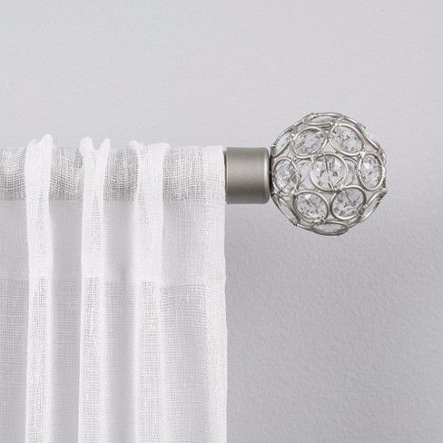 Rings 1 Curtain Rod And Coordinating Finial Set Exclusive Home