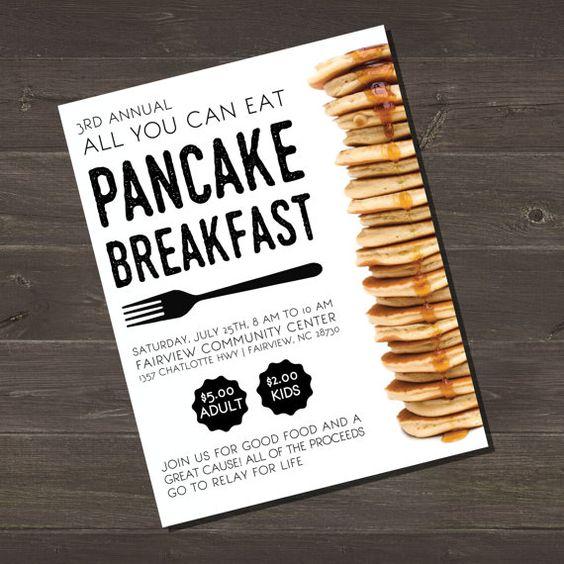 Fundraiser Poster Design  Pancake Fundraiser  by BAJDESIGNS