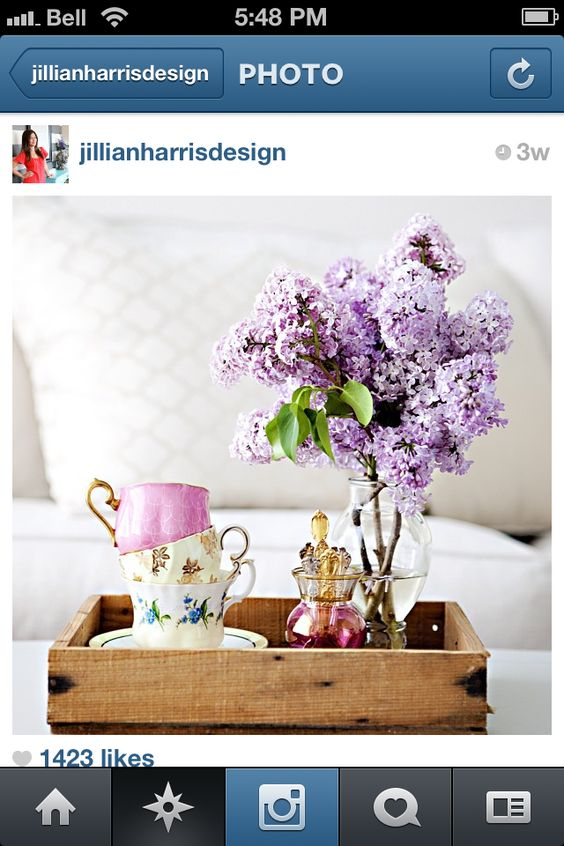 Love the teacups with the flowers. just so delicate and elegant. Jillian Harris Designs.
