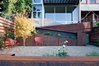 Warm Weather Dreaming: Backyards | California Home + Design Magazine - Like how they have the planter in the staircase