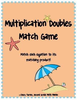 This game would be great as a center! The game includes multiplication equations from 1 x 1 to 12 x 12.