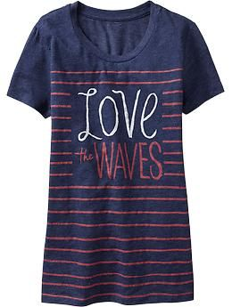 Women's Nautical-Graphic Tees | Old Navy