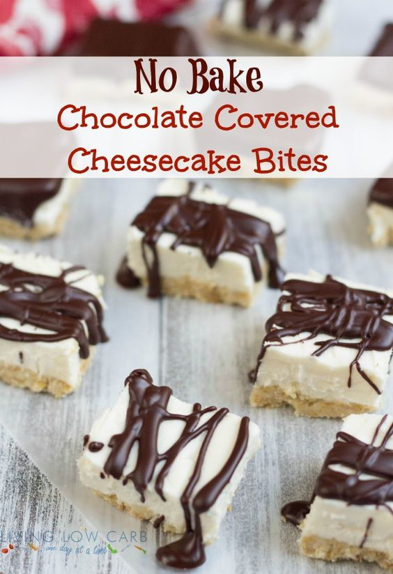 Cheesecake bites, Cheesecake and Chocolate covered on Pinterest