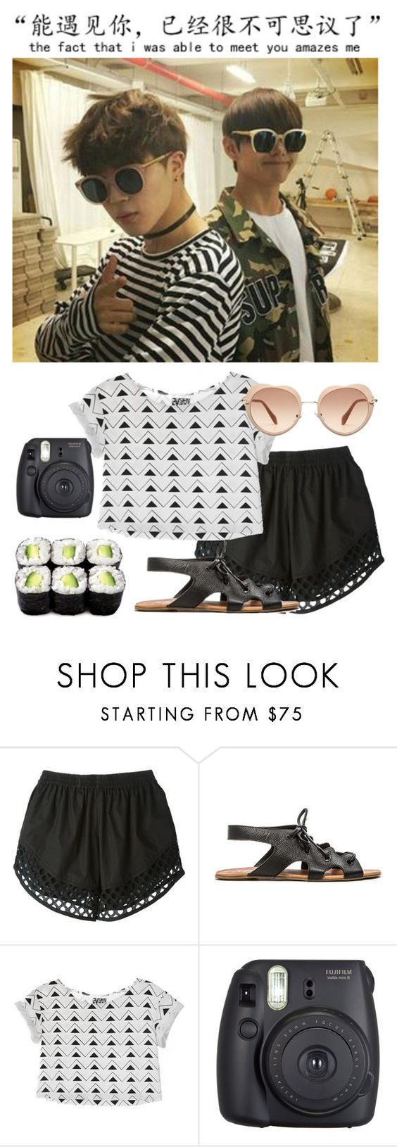 """Hanging Out With Jimin & Taehyung"" by fantasy-lover-0719 ❤ liked on Polyvore featuring Carven, Matisse, Dusen Dusen, Fuji and Miu Miu"