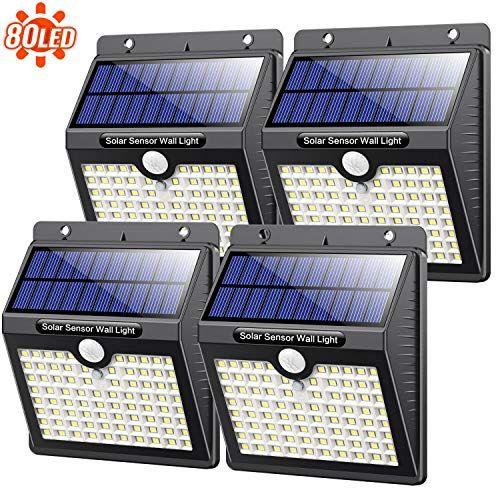 Kilponen Lampe Solaire Exterieur80 Led 4 Pack 2000mah Puissanteclairage Solaire Avec Detecteur De En 2020 Lampes Solaires Lumiere Solaire Eclairage Solaire Exterieur