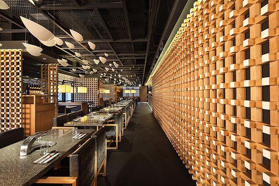 Yakiniku Master Restaurant, Shanghai, China.  Golucci International Design