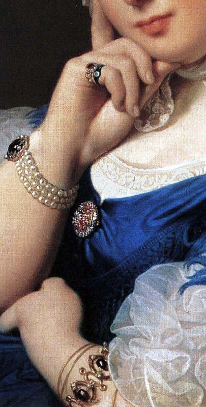 Jean Auguste Dominique Ingres (1780 - 1867), Delphine Ramel Madame Ingres, 1859, detail: