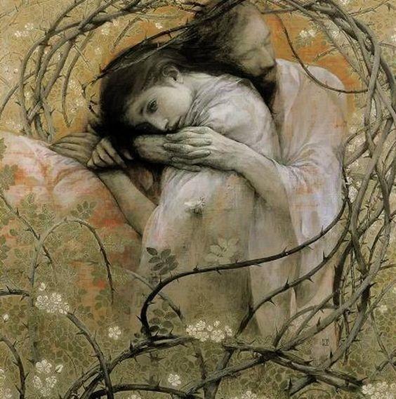 「茨と帛」, by Enoki Toshiyuki, 1997