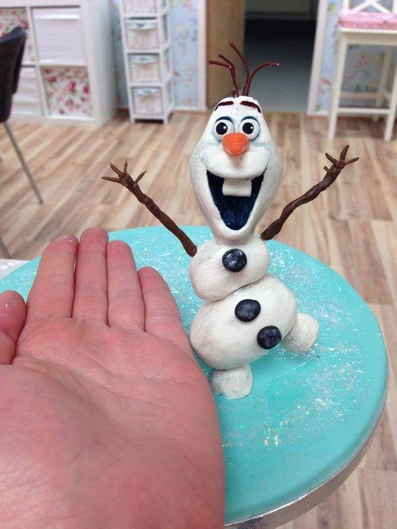 #olaf #frozen #cake #cakedecorating #sugarcraft #fun #snowman #blue #chocolate #figure