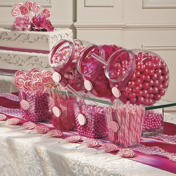 Create a candy buffet for your guests to enjoy!