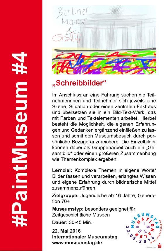 """#4 """"Schreibbilder"""" #PaintMuseum"""