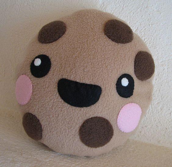 Kawaii Cookie Pillow by sock monkey kook, via Flickr