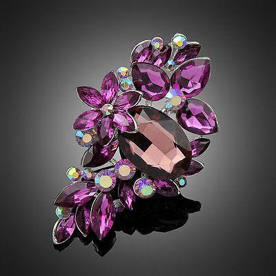 Nice Jewelry Romantic Purple Rhinestone Women Wedding Party Dress Brooch Pin https://t.co/iItFvohlbw https://t.co/PyIuo89za1