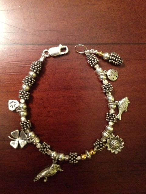My DIY charm bracelet. 925 silver and gold vermiell.