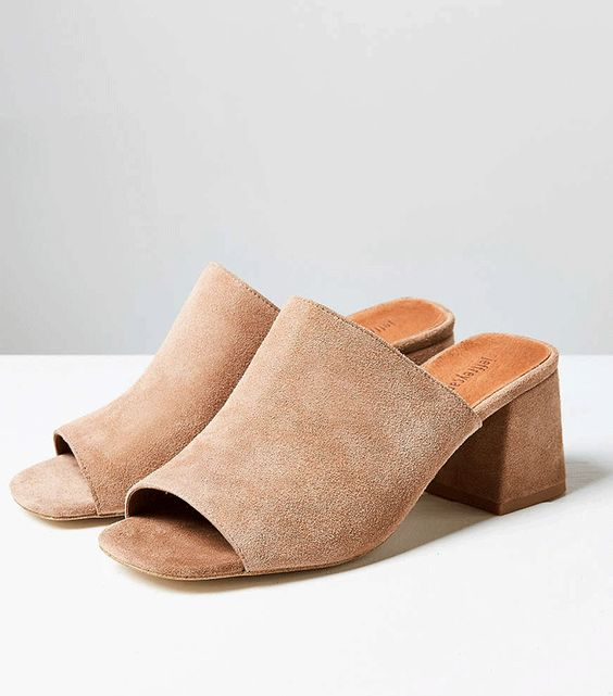 #TuesdayShoesday: 7 Tan Mules We Love via @WhoWhatWear: