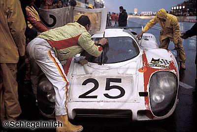 Vic Elford / Kurt Ahrens Jr., #25 Porsche 917L (Porsche KG Salzburg), 24 Hours Le Mans 1970 (DNF) - Schlegelmilch Photography