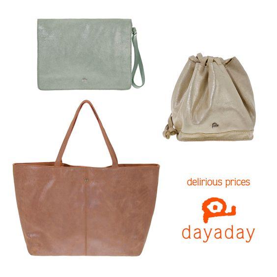 ¡La colección metalizados llega a los delirious prices! Shop online in http://www.dayaday.es/BOLSO%20PIEL.aspx