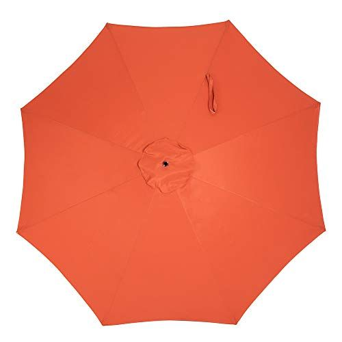 Crestlive Products Universal Patio Umbrella Replacement Canopy For 10ft 8 Ribs Offset Umbrellas Orange In 2020 Offset Umbrella Replacement Canopy Patio Umbrella