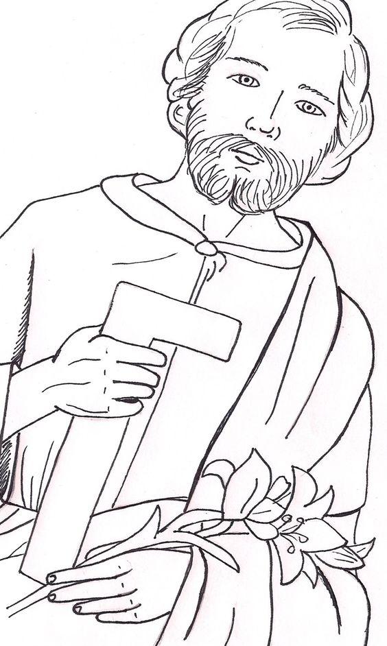 Livro sobre São José para colorir