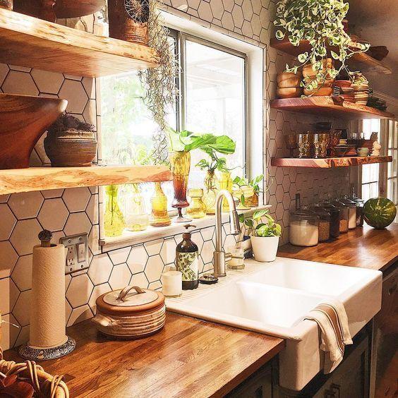21 Bohemian Kitchen Design Ideas Decoholic Farmhouse Kitchen Remodel Kitchen Remodel Small Farmhouse Kitchen Design