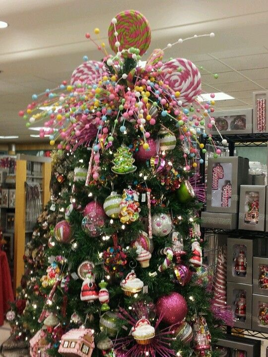 Candy land christmas candy land and christmas trees on for Candy xmas tree decoration