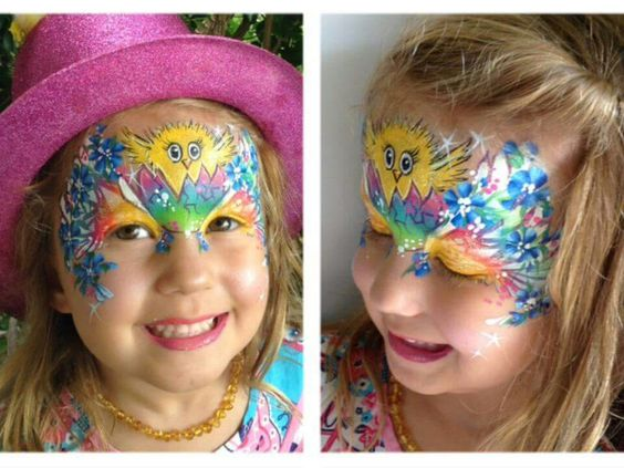 Ayesha Henderson chick face painting design