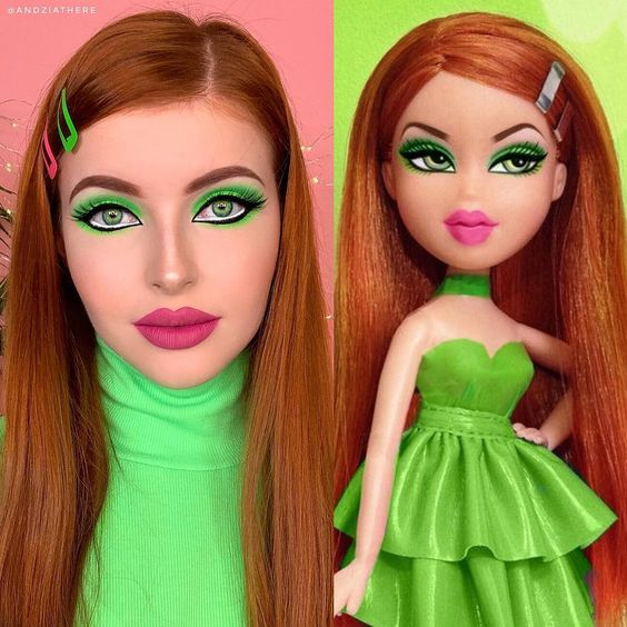 Influencers are doing their makeup like Bratz dolls for the Instagram #BratzChallenge, and you gotta see this!
