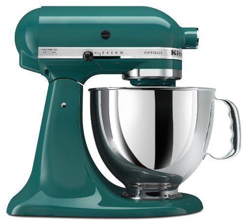 Bay Leaf Teal Green Kitchenaid Artisan Series 5 Qt Stand Mixer