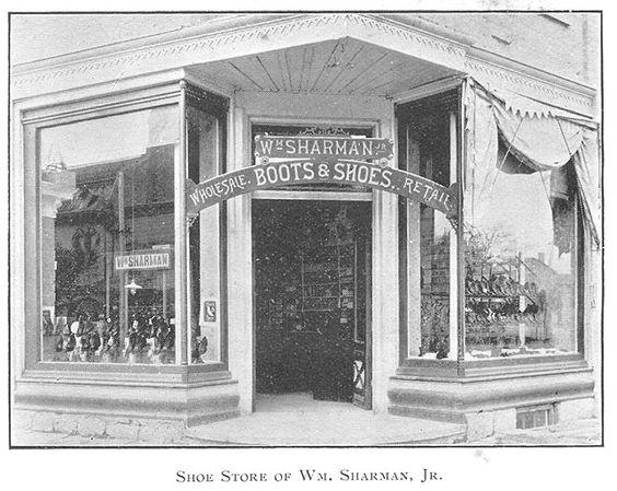 Sharman's Shoe Store, Goderich, Ontario c.1897 #Goderich #RediscoverGoderich #VintageGoderich