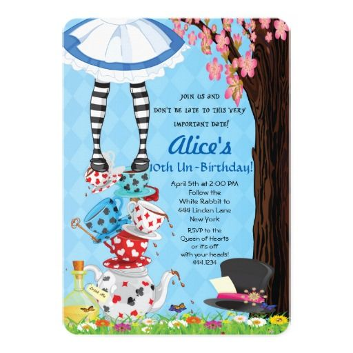 Alice In Onederland Invitations with perfect invitations example