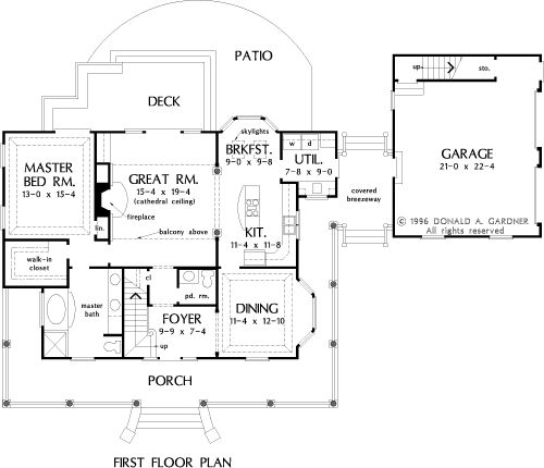 The Taylor House Plans First Floor Plan - ideas for kitchen into great room