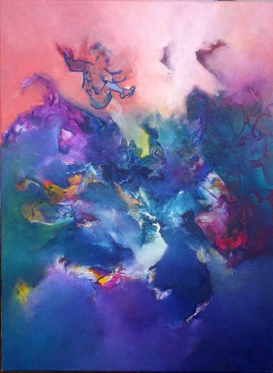 """""""Caída Libre"""" - Gabriela Winicki - Acrílico sobre tela - 70 cm x 50 cm - www.esencialismo.com"""