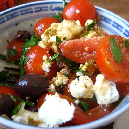 Tomato, Black Olive, and Feta Salad