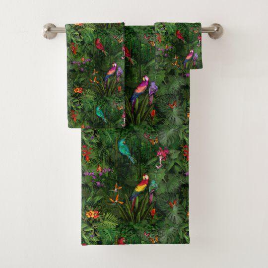 Jungle Bath Towel Set Zazzle Com In 2020 Bath Towel Sets