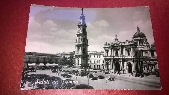 POMPEI NAPLES  ITALY  Old post card  UNPOSTED