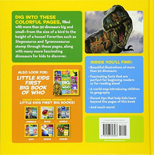 National Geographic Little Kids First Big Book Of Dinosaurs National Geographic Little Kids First Big Books Experts Guys Your Choice Big Book Books National Geographic