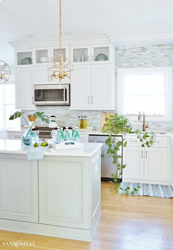 Coastal Kitchen Decorating Ideas For Spring Coastal Kitchen Coastal Kitchen Design Kitchen Decor