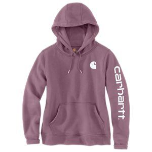 Regular and Plus Sizes Carhartt Womens Clarksburg Graphic Sleeve Pullover Sweatshirt