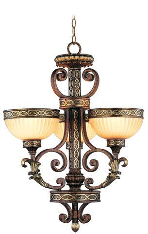 Livex Lighting 8524-64 Seville Chandelier in Palacial Bronze with Gilded Accents