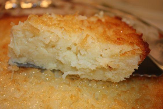Crustless Coconut Custard Pie