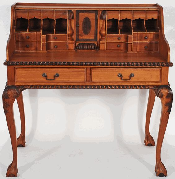 Asian furniture ornate indonesian fancy writing desk from for Asian inspired desk