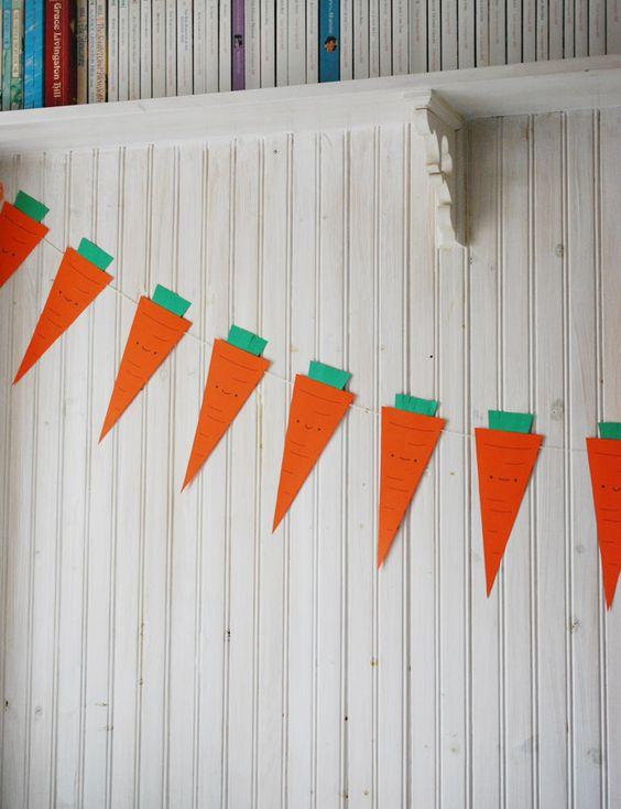 Printable Kawaii Carrot Banner // wild olive: