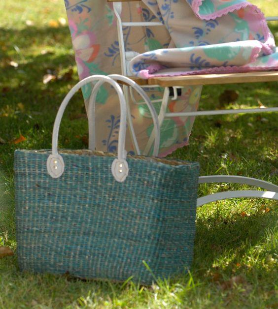 Tasche aus Seegras, Shoppingbag, Strandausflug