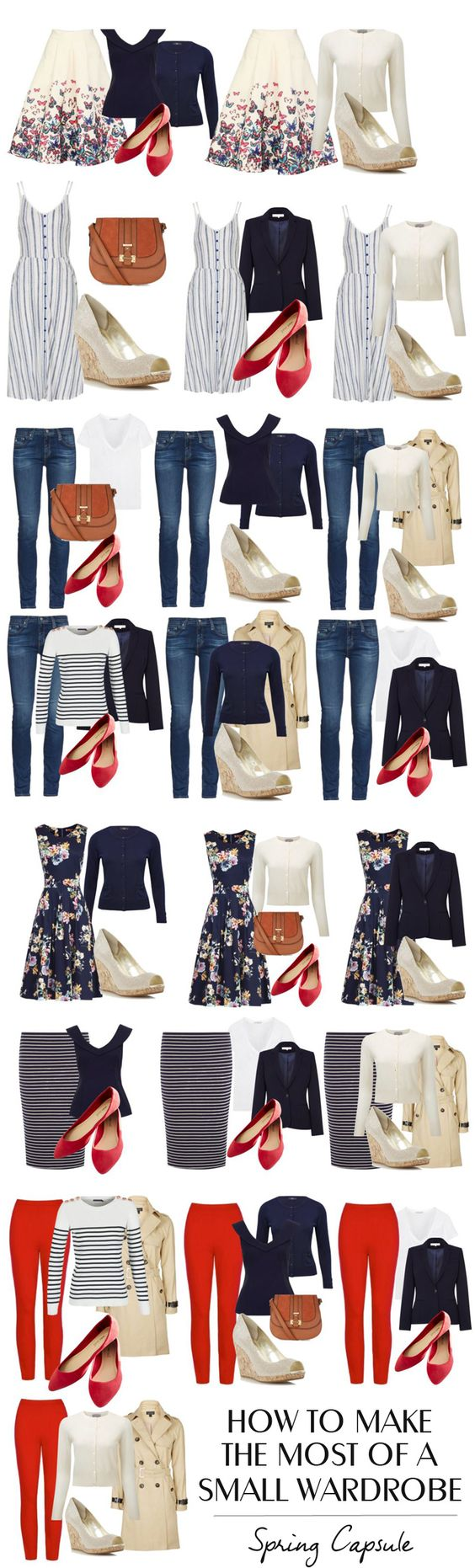 How to make the most of a very small wardrobe: spring capsule wardrobe: