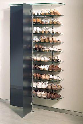 Elegantes Schuh Wandregal Mit Glasturen Schrank Schuhablage Regal Wandregal